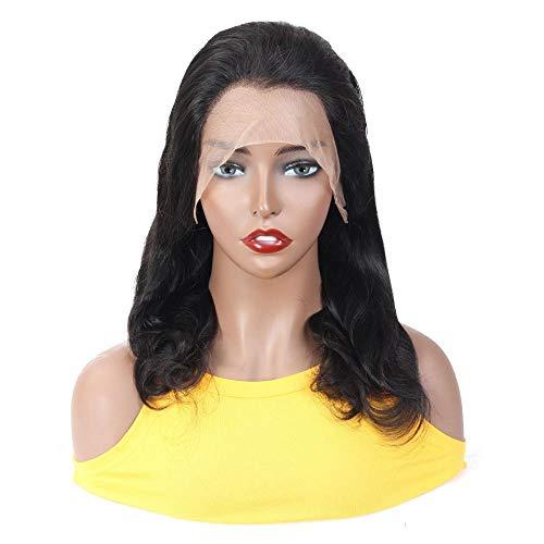 Natuurlijke zwarte grote golvende lang krullend haar, 24 inch, hoogwaardig echt haar, front lace pruik, kunstmatige hoofdhuid, pruik voor charmante dagelijkse dameskleding