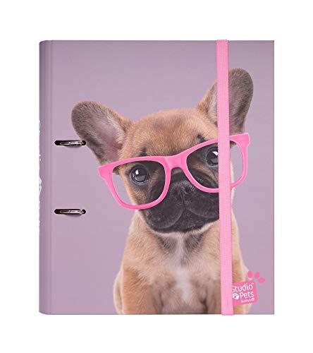 Grupo Erik C2AT0013- Carpeta 2 anillas troquelada premium Studios Pets Dogs...