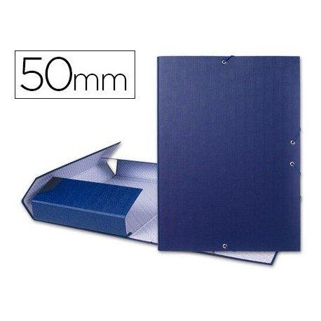 Projectiemap rug 5 cm blauw