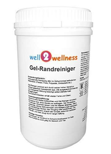 well2wellness Schwimmbadreiniger Poolreiniger - Gel-Randreiniger 1,0 kg
