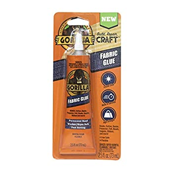 Gorilla Waterproof Fabric Glue 2.5 Ounce 1-Pack Clear