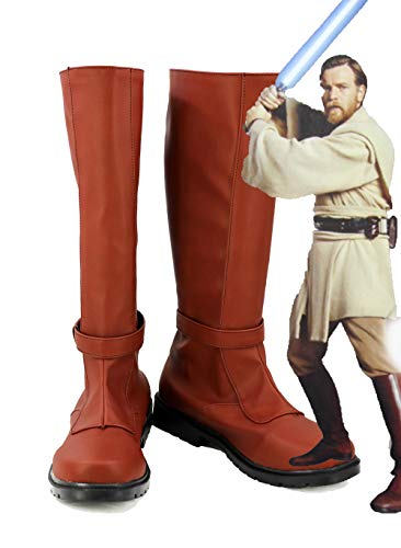 Telacos Star Wars JediKnight OBI WAN Kenobi - Botas para Disfraz (2 Unidades)