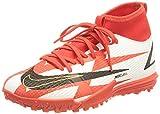 Nike Jr. Mercurial Superfly 8 Academy CR7 TF, Zapatillas de ftbol, Chile Red Black White Total Orange, 33 EU