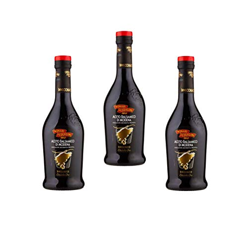 Monari Federzoni -Offerta 3 Confezioni di Aceto Balsamico di Modena IGP Invecchiato Etichetta Oro 500ml
