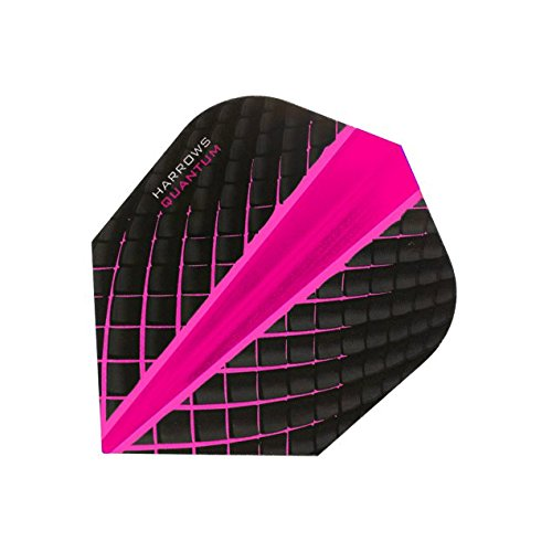 Harrows Quantum Dart-Flights, 3D-Effekt, 100 Mikron, Standardform, Pink, 5 Sets (15)