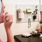 KalaMitica KIT-74 - Pizarra de baño con Accesorios magnéticos, Kit Bathroom74, Metal, Plata, 56 x 38 x 1 cm