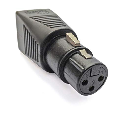 CPoint XLRJ45-3F 3 Pin XLR Female to RJ45 DMX Adapter