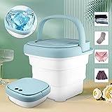 TELAM Mini lavadora 80 W Lavadora y secadora portátil plegable + alta temperatura + luz ultravioleta + secadora secadora plegable para ropa de bebé, ropa interior, calcetín de viaje