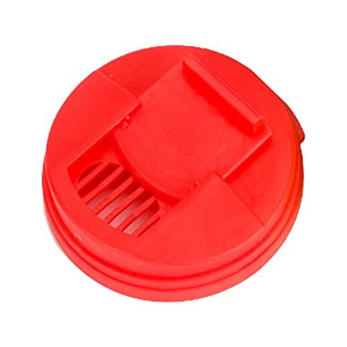 Mgsiko Tapa reutilizable para bebidas, tapa duradera a prueba de salpicaduras, tapa antigoteo para bebidas carbonatadas (rojo)