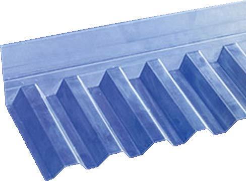 Wandanschluss für PVC-Wellplatten mit Profil 76/18 - Trapez