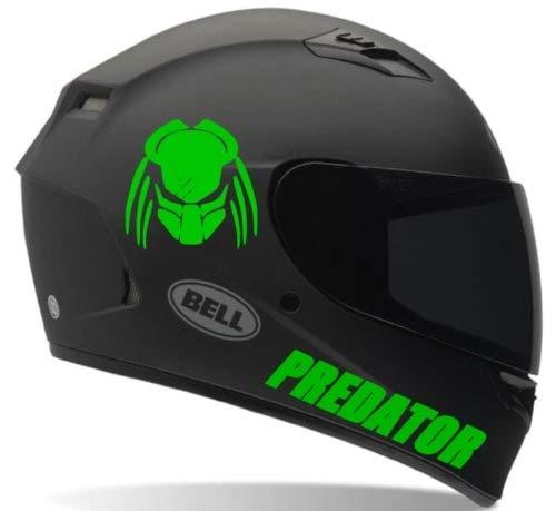 SUPERSTICKI 2X Predator Motorrad Aufkleber Bike Auto Racing Tuning aus Hochleistungsfolie Aufkleber Autoaufkleber Tuningaufkleber Hochleistungsfolie für alle glatten Flächen UV und Waschanl