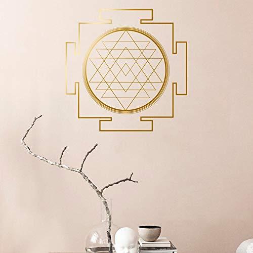 Sri Yantra Kinderzimmer Wandaufkleber Heilige Geometrie Geometrische Linie Kreis Mandala Vinyl Wandtattoos Kunst Poster Wandbild Schlafzimmer Dekoration