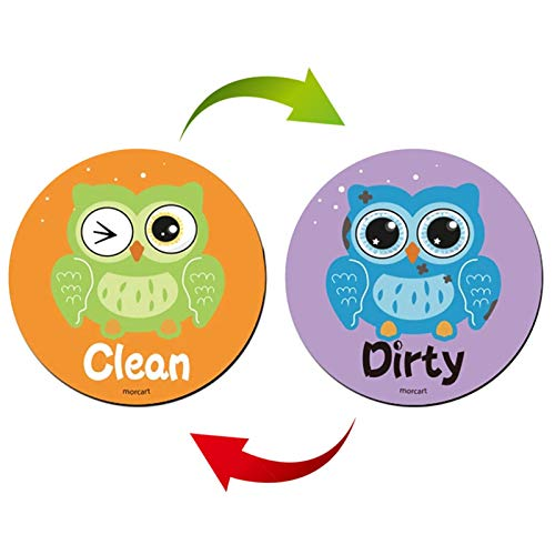 Peitten Clean Dirty Dishwasher Magnetschild 3,15-Zoll, Wasserdicht, Doppelseitig, Stärkste Magnete, Flip-Indikator, Geschirrspüler-Magnet - Lustige Geschenke - Dishwasher Clean-Dirty Sign