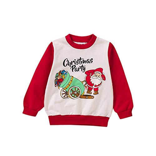 Kleinkind Weihnachten Cartoon gedruckt T-Shirt Langarm Rundem Hals T-Shirts Jungen...