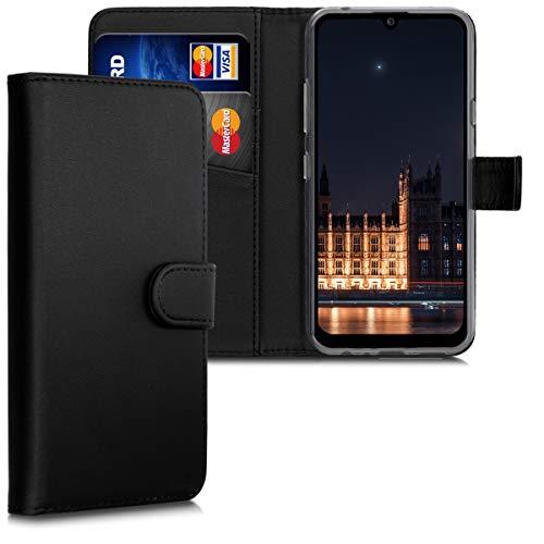 kwmobile LG K40S Hülle - Kunstleder Wallet Case für LG K40S mit Kartenfächern & Stand - Schwarz