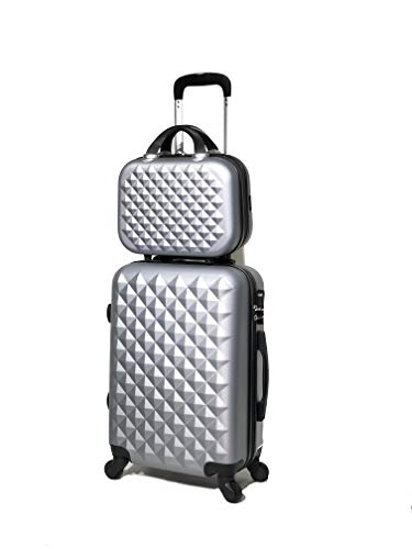 ABS Valise Taille Cabine et Vanity Case (Silver (5802))