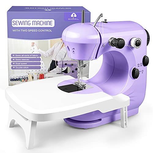 Sewing Machine, Portable Sewing Machine for Beginners with Light and Extension Table, Easy to Use & Safe for Kids, Best Gifts Suitable for DIY Home Travel, Space Saver