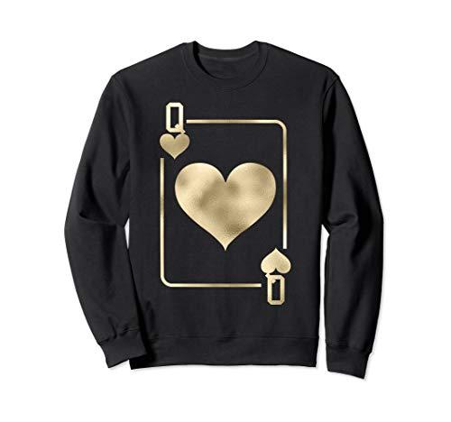Queen of Hearts Playing Card Halloween Costume Glam Sweatshirt