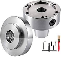 """VEVOR Router Collet Set 5C, 5"""" Collet Adapter with Dust Removing Brush, 6000 RPM Collet Chuck, 0.0006 TIR Rotary Collet, Cam Lockpin 1-1/2"""" in Diameter with a Backplate for Lathe Machine"""