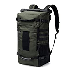 """LARGE WITH SEVERAL POCKETS- 40L, 12.6""""x7.9""""x20.5"""", 3.32 lbs. It's roomy and can provide separated space for 17"""" Laptop, iPad, A4 files, wallet, clothes, power bank and more your items. With side MOLLE webbing together that can attach your tactical eq..."""