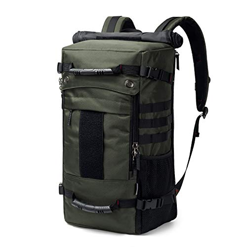 Mardingtop 40L Duffle Backpack Molle Travel Sports Gym Carry-On Bag for Men Women 6346-Army Green