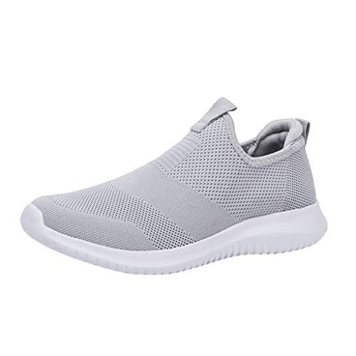 Fannyfuny Unisex Sportschuhe Damen Herren Sneakers Ultra-leichte Bequeme Freizeitschuhe Atmungsaktiv Mesh Turnschuhe Outdoor Fitness Laufschuhe für Herren Damen Bequem Slip On Jogging Schuhe 35-48