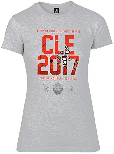 NFL Cleveland Browns - Camiseta de Manga Corta para Mujer, Hombre, MCL4638E2, Gris, Extra-Large
