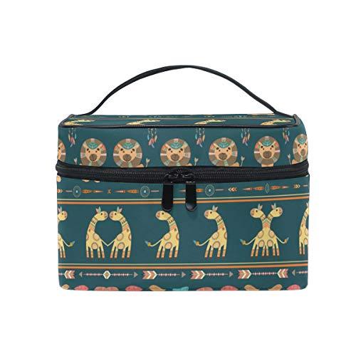 Lion Cerf Trousse Sac de Maquillage Toilette Cas Voyage Sac Organisateur Cosmétique Boîtes pour Les Femmes Filles