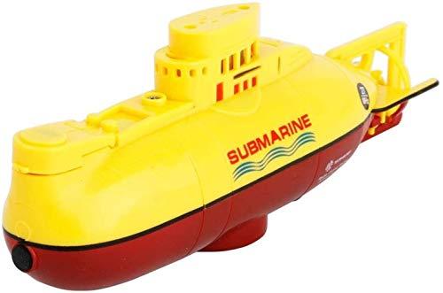 Boot Ferngesteuert,Mini-Fernbedienung U-Boot - Mini-Fernbedienung U-Boot 6CH High-Speed-U-Boot Radio Control Racing U-Boot Schiff Kinder Geschenk (Gelb)