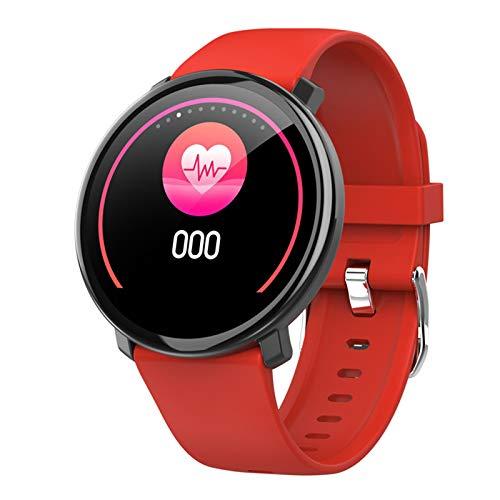 WEINANA Smart Armband Herzfrequenz Druck Blutsauerstoff Schlafüberwachung Smart Watch Multifunktionale wasserdichte Sportuhr(Color:rot)