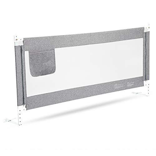Barrières de lit LHA Clôture de lit barrière Anti-éclatement bébé 120cm, 150cm, 180cm, 200cm , 220cm (Couleur : Gray, Taille : L-150cm)