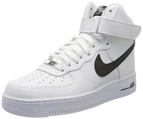Nike Herren AIR Force 1 HIGH '07 AN20 Basketballschuh, White Black, 41 EU