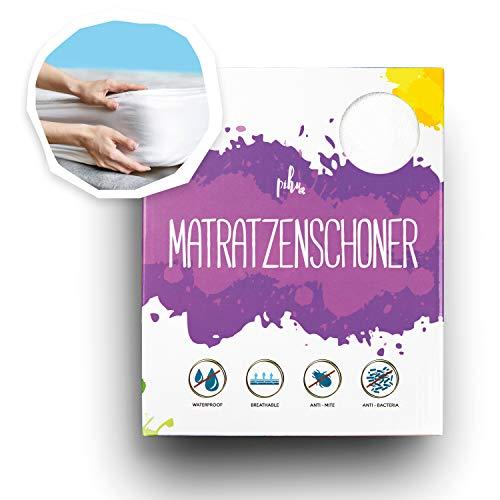PIHU Matratzenschoner (Wasserdicht) Baby Kleinkind Kind (Inkontinenzauflage) Matratzenschutz (Atmungsaktiv + Luftdurchlässig) Babybett Kinderbett - Schutzbezug für Matratze & Topper aus Baumwolle