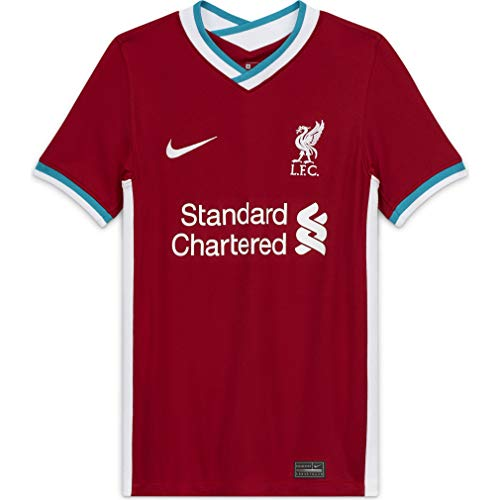 Nike Youth Soccer Liverpool Home Jersey (Large) Red