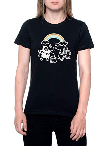 Spooky Pals Camiseta Mujer Negra T-Shirt Women's Black