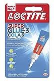 Loctite Super Glue-3 Pure Gel, adhesivo instantáneo, sin olor, blanco, 3 gr