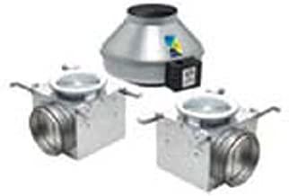 Fantech PB370-2 Inline Exhaust Fan, 360 CFMBathroom Kit, Dual Grille - for 6