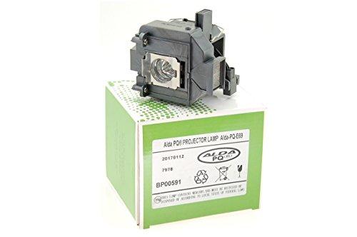 Alda PQ-Premium, beamerlamp/reservelamp voor EPSON POWERLITE PC 6010 projectoren, lamp met behuizing