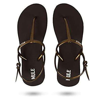 MULE KEEP MOVING Women's Olive Green & Brown Fashion Sandal