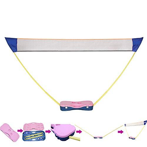Badminton Netz Koffer, Tragbares Volleyball Faltbares Federballnetz Outdoor Trainingsnetz, Kein Werkzeug Erforderlich, Für Außen-Innenplätze Hinterhöfe Strand
