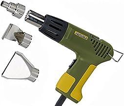 Proxxon MICRO-heteluchtpistool MH 550, robuuste heteluchtföhn met 3 extra sproeiers, 350/550 °C, 500 W, groen, art.nr. 27130