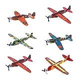 MAKFORT 24 x Planeur Enfant Avion Planeurs Polystyrene Cadeau Fête 19cm