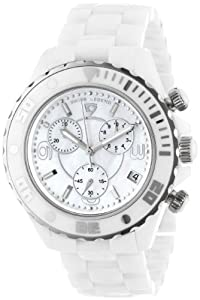 Swiss Legend Men's SL-30050-WWSR Karamica Collection Chronograph White Ceramic Watch