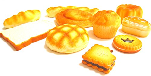 ふっくら パン 食品 サンプル 詰め合わせ 装飾 (バリエーション D)