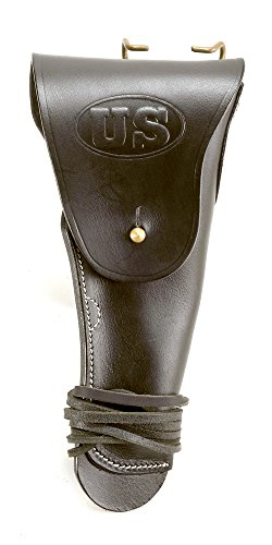 World War Supply Black Leather M1916 1911 .45 Holster Premium Drum Dyed Leather