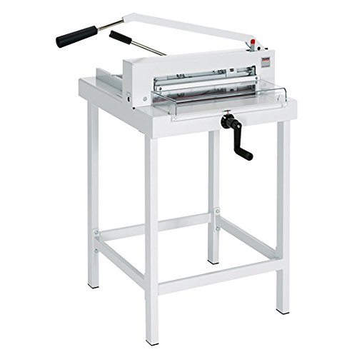 triumph paper cutters MBM CU0450L Triumph 4305 Manual Tabletop Cutter, Spindle-guided Back Gauge, Fast-action Clamp, Calibrated Crank and Measurement Scale, Solid Steel Blade Carrier and Adjustable Blade Guides
