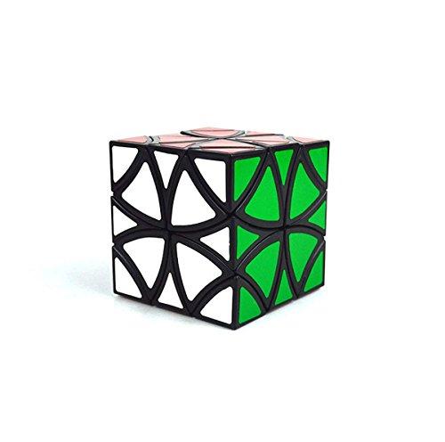 EasyGame Cubo de la Flor Cubo Curvy del helicóptero: Cubo mágico del Cubo de la Magia de la Mariposa de la Flor Cubo de la Velocidad del Juguete del Rompecabezas 57m m, Negro