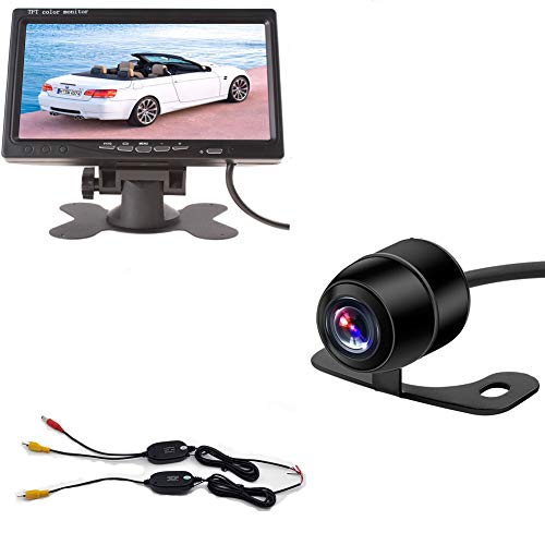 """Wireless Backup Camera System 7"""" inch TFT LCD Color Screen Rear View Monitor Mini Car Parking Reverse System CCD Camera Kit"""