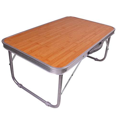 ACD Pflegetisch Beistelltisch mit Rollen Klappbarer Computertisch, Kinder-Esstisch, tragbarer Aluminiumtisch, Innen- und Außenbereich können beide verwendet Werden, 65x40x30cm