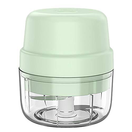 Camisin Electric Food Chopper 100ML,USB Portable Garlic Blender Press Chopper Processor for Onion Fruit Meat,Green